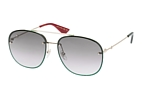 Gucci GG 0227S 004 Gold / Green / Gradient grey perspective view thumbnail
