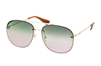 Gucci GG 0227S 004 Gold / Green / Purple perspective view thumbnail