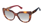 Gucci GG 0164S 001 Havana / Gradient grey perspective view thumbnail