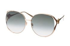 Gucci GG 0225S 003, Round Sonnenbrillen, Goldfarben