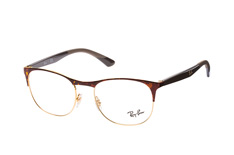 Ray-Ban RX 6412 2917 large, Square Brillen, Goldfarben