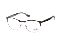 Ray-Ban RX 6412 2861 large, Square Brillen, Schwarz