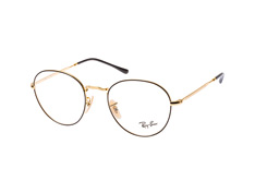 Ray-Ban RX 3582V 2946 large, Round Brillen, Goldfarben