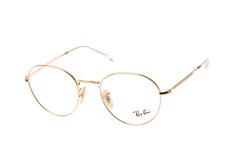 Ray-Ban RX 3582V 2500 large, Round Brillen, Goldfarben