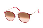 Ray-Ban RB 3546 9010/9U large Rood / Bruin / Roze perspective view thumbnail