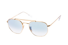 Ray-Ban RB 3648 001/3F large, Aviator Sonnenbrillen, Goldfarben