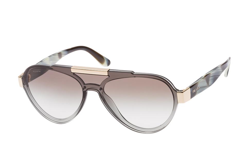 PR 01Us Bru-0A7, Singlelens Sonnenbrillen, Grau