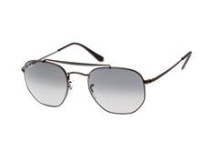 ray-ban-the-marshal-rb-3648-002-71-s-aviator-sonnenbrillen-schwarz