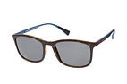 Prada Linea Rossa PS 01TS DG0-2B0 Havana / Blue / Polarised grey perspective view thumbnail
