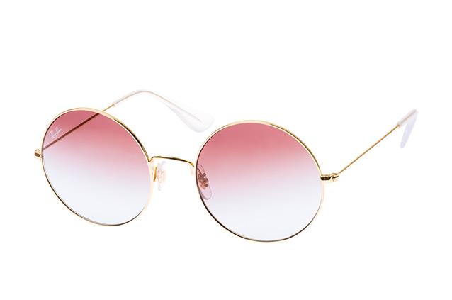 RAY BAN RAY-BAN Damen Sonnenbrille »Ja-jo RB3592«, goldfarben, 001/I8 - gold/ lila
