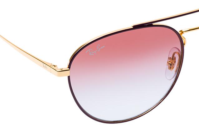 RAY BAN RAY-BAN Damen Sonnenbrille » RB3589«, goldfarben, 9059I8 - gold/ lila