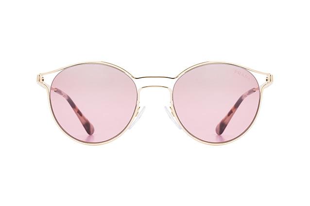 PRADA Prada Damen Sonnenbrille »CINEMA PR 62SS«, goldfarben, ZVN095 - gold/silber