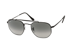 ray-ban-the-marshal-rb-3648-002-71-l-aviator-sonnenbrillen-schwarz