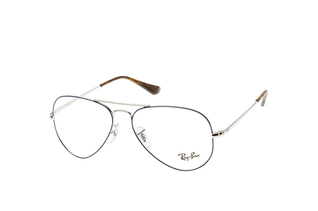 f0ae55ef80f2 ... Glasses; Ray-Ban Aviator RX 6489 2970 S. null perspective view ...