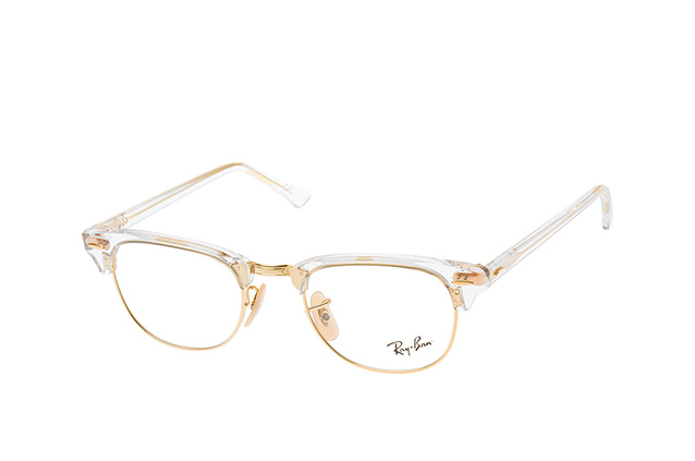 48fb2472386 ... Glasses  Ray-Ban Clubmaster RX 5154 5762 small. null perspective view  ...