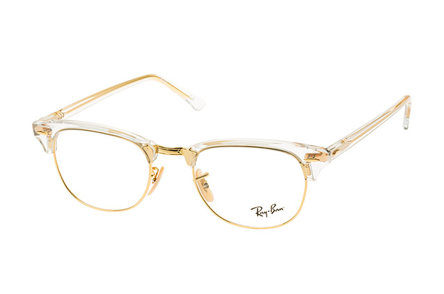 96e5897584b ... Glasses  Ray-Ban CLUBMASTER RX 5154 5762 large. null perspective view  ...