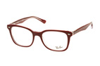 Ray-Ban RX 5285 5883 large Rood / Transparant  / Zilver perspective view thumbnail
