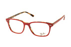 Ray-Ban RX 7119 2012 large Havana / Rood perspective view thumbnail