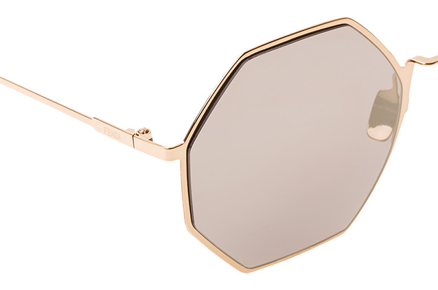 FENDI Fendi Damen Sonnenbrille » FF 0292/S«, goldfarben, J5G/UE - gold/ weiß
