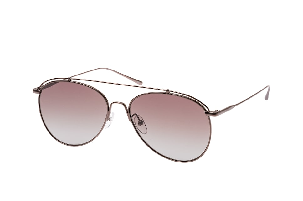 CK 2163S 061, Aviator Sonnenbrillen, Silber