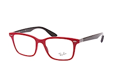 ray-ban-liteforce-rx-7144-5772-rectangle-brillen-rot