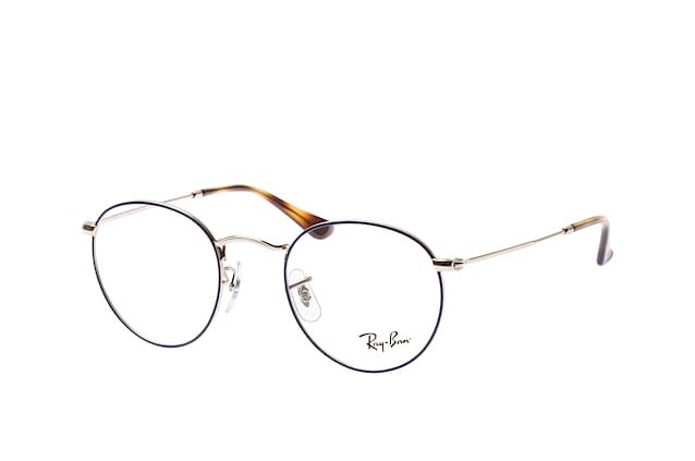 ee35e13cc7 ... Glasses  Ray-Ban ROUND METAL RX 3447V 2970 S. null perspective view ...