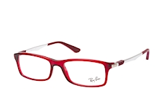 ray-ban-rx-7017-5773-rectangle-brillen-rot