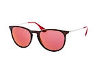 Ray-Ban Erika RB 4171 601/2P Marrón / Plateado / Lila perspective view thumbnail