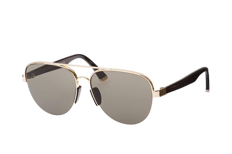 Super by Retrosuperfuture Air Black & Gold N2B/r, Aviator Sonnenbrillen, Goldfarben