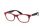 Ray-Ban RX 7032 5436 Red / Black perspective view thumbnail