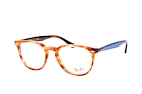 Ray-Ban RX 7159 2012 small Havana / Blauw / Bruin perspective view thumbnail