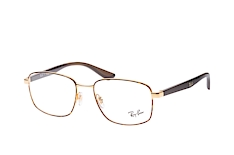 ray-ban-rx-6423-2945-square-brillen-goldfarben
