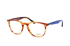 Ray-Ban RX 7159 5799 large Havana / Blauw perspective view thumbnail