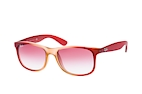 Ray-Ban Andy RB 4202 6153/55 Rose / Rouge / Lila vue en perpective Thumbnail