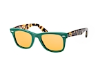 Ray-Ban Original Wayfarer polarized RB 2140 901/58 Grün / GelbPerspektivenansicht Thumbnail