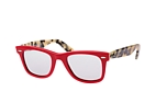 Ray-Ban Wayfarer Denim RB 2140 1167/S5 Red / Havana / Polarised grey perspective view thumbnail