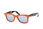 Ray-Ban Original Wayfarer polarized RB 2140 901/58 Orange / Polglas BlauPerspektivenansicht Thumbnail