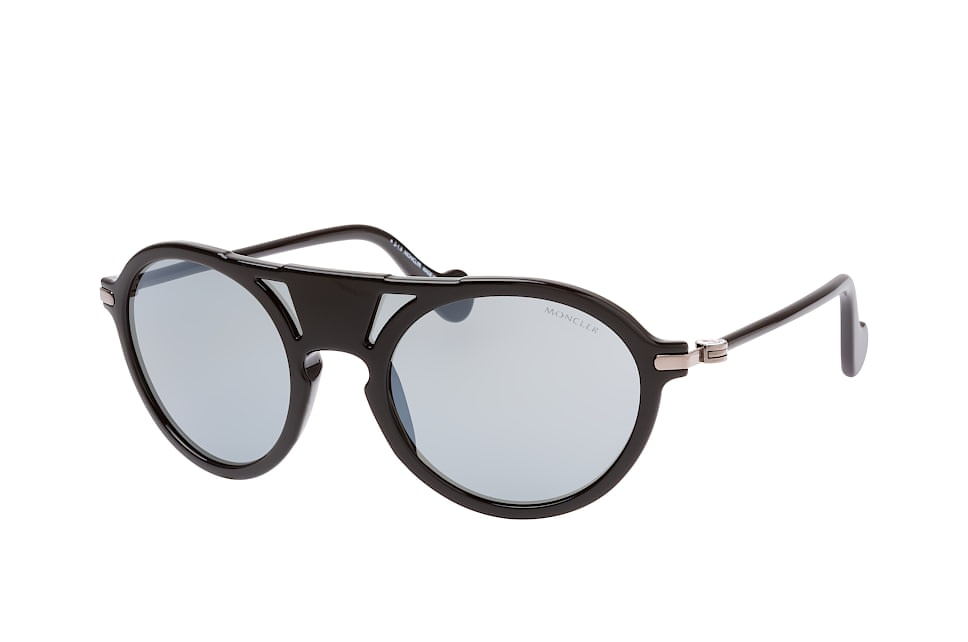 moncler -  ML 0053/s 01B, Singlelens Sonnenbrillen, Schwarz