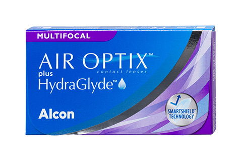 Air Optix Air Optix plus HydraGlyde Multifocal front view