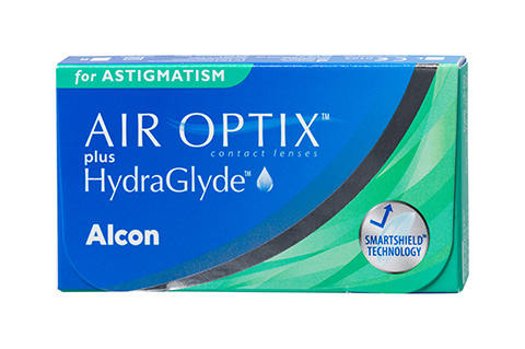 Air Optix Air Optix plus HydraGlyde for Astigmatism front view