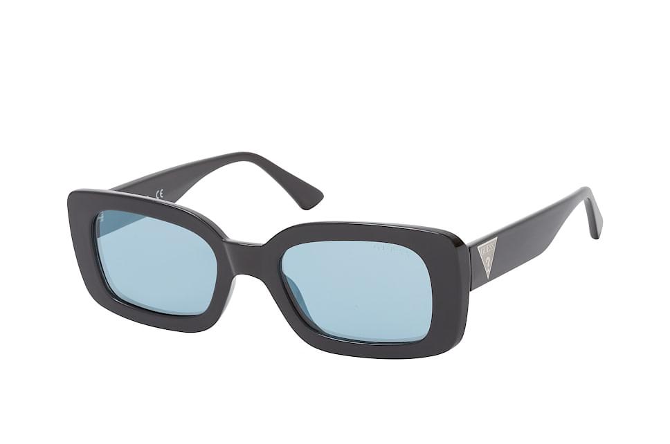 GU 7589/s 01X, Rectangle Sonnenbrillen, Schwarz