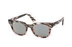 Ray-Ban Meteor RB 2168 1268/3L Marrón / Plateado perspective view thumbnail