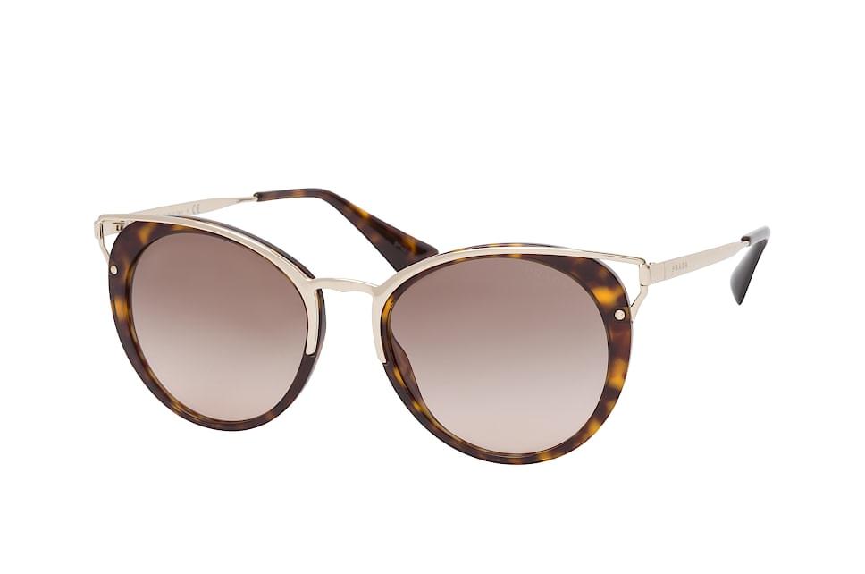 PR 66Ts 2Au-3D0, Round Sonnenbrillen, Goldfarben