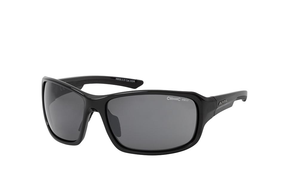 Lyron A8630.3.31, Sporty Sonnenbrillen, Schwarz