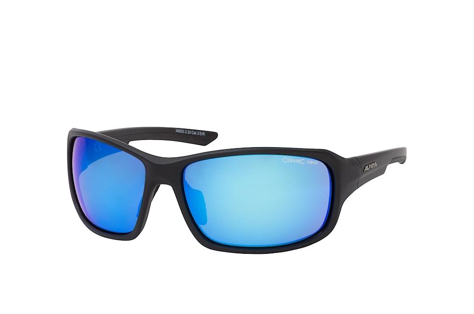 Lyron A8630.3.33, Sporty Sonnenbrillen, Schwarz
