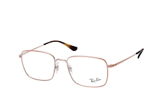 ray-ban-rx-6437-2943-rectangle-brillen-goldfarben