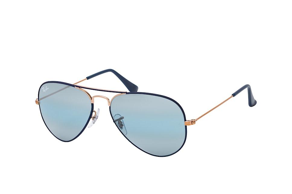 Aviat. Large M RB 3025 9156/aj, Aviator Sonnenbrillen, Blau