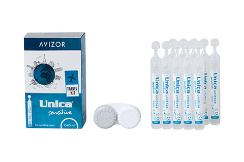 Avizor Unica Sensitive 10x10ml vista frontal