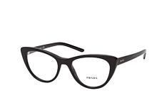prada millennials pr 05xv 1ab1o1, including lenses, butterfly glasses, female