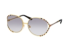 Gucci GG 0595S 003 Gold / Grey perspective view thumbnail